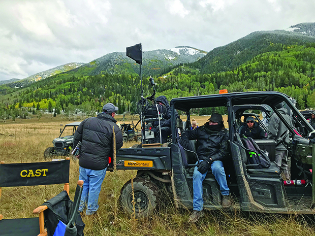 The sound team loading the Gator on location. Photo: Courtesy of Thomas Curley